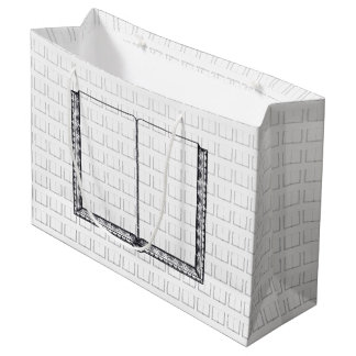 Open Book (Blank Pages) Large Gift Bag