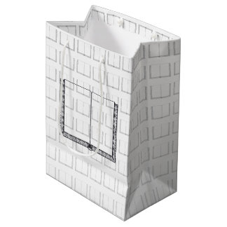Open Book (Blank Pages) Medium Gift Bag