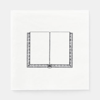 Open Book (Blank Pages) Napkin