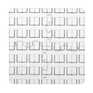 Open Book (Blank Pages) Puzzle Coaster