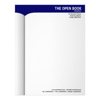 Open Book - Blue 000066 Letterhead