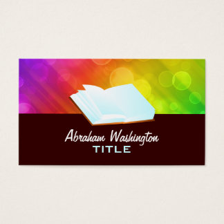 open book Business Cards