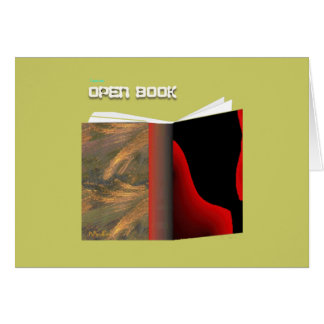 Open Book Greeting Card