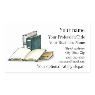 Open Book Design Business Card