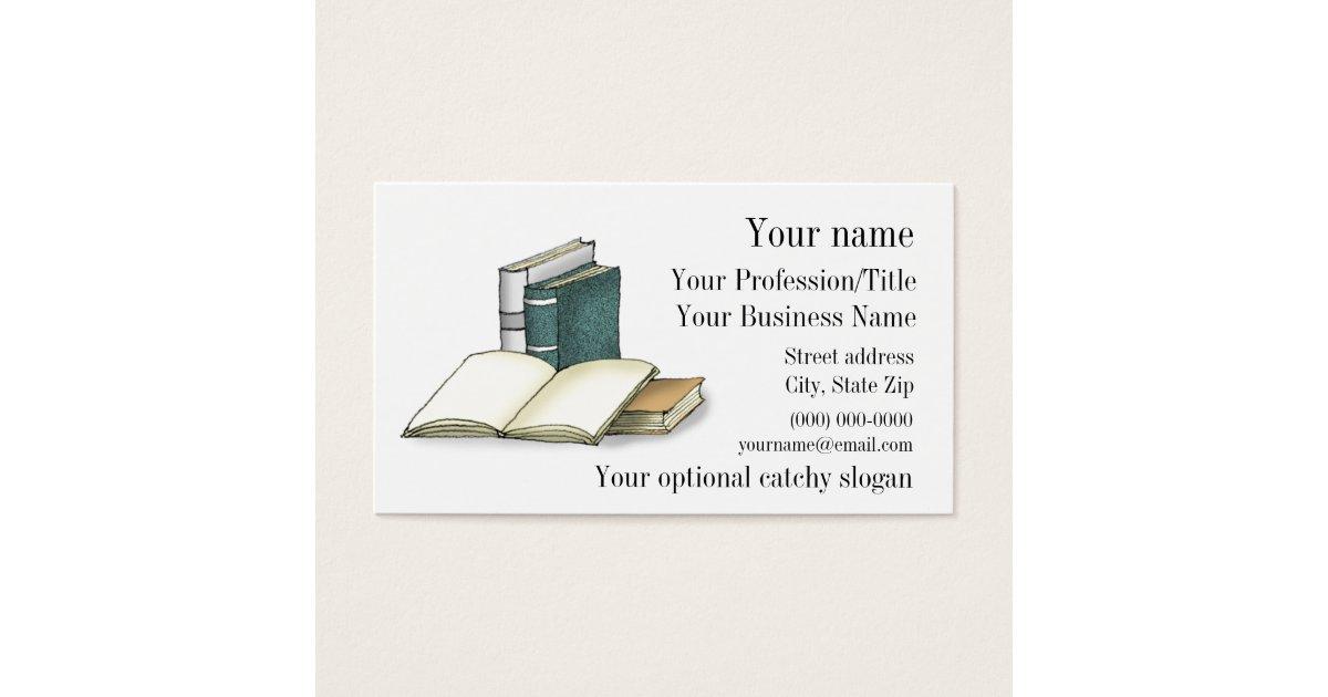 Open Book Design Business Card | Zazzle.com