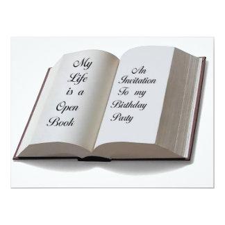 Open Book for invitation card