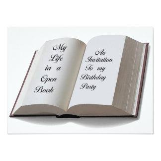 Open Book invitation card