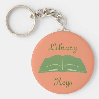 Open Book Library Keys Keychain