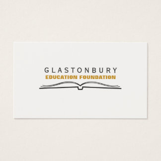 Open Book Logo Education Teacher Business Card