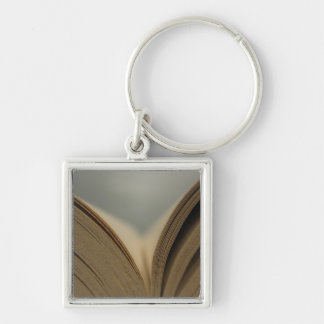 Open Book Pages Keychain