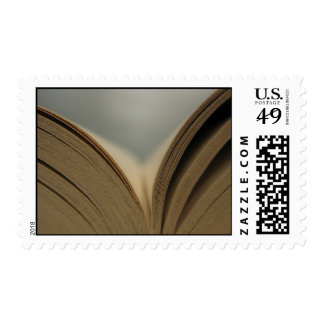 Open Book Pages Postage Stamps