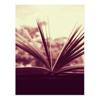 Open Book Photograph Postcard