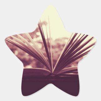 Open Book Photograph Star Sticker