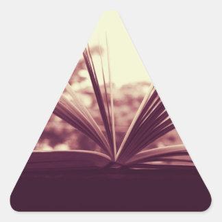 Open Book Photograph Triangle Sticker