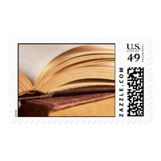 open book postage stamp