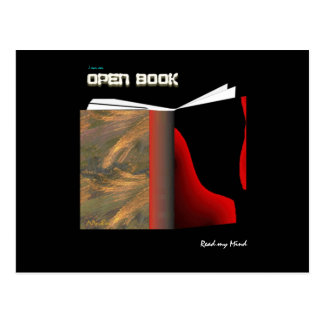 Open Book Postcard
