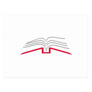 Open Book Postcard