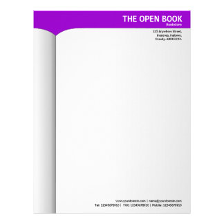 Open Book - Purple 9900CC Letterhead