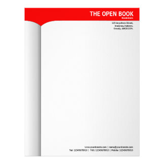 Open Book - Red Letterhead