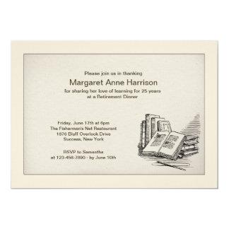 Open Book Retirement Dinner Invitation