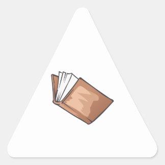 OPEN BOOK TRIANGLE STICKER