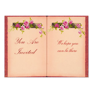 Open Book  - Vintage Style Floral Invites