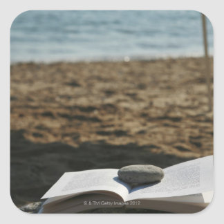 Open book with a roller square sticker