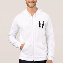 Open bow tie hoodie