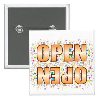 Open Bubble Tag 2 Inch Square Button