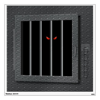 Open Caged Monster Halloween Haunted House Wall Sticker