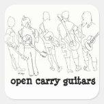 open carry guitars sticker