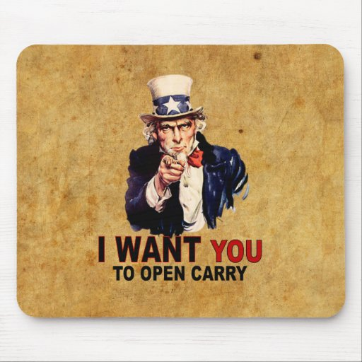 Open Carry Mouse Pad