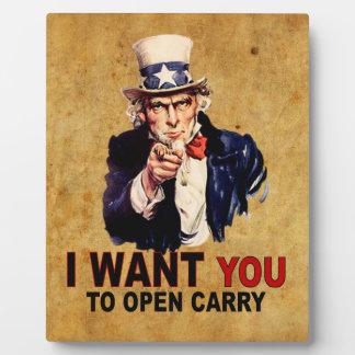 Open Carry Plaque