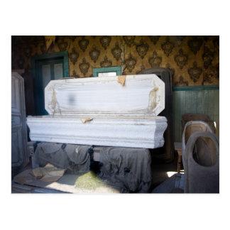 Open Casket City Morgue Postcard