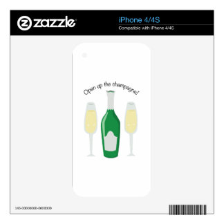 Open Champagne iPhone 4 Decal