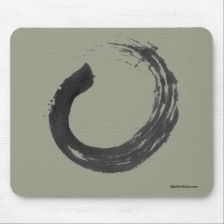 Open Circle Enso Zen Mousepad, Khaki Mouse Pad