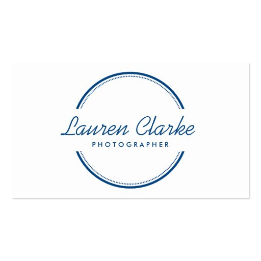 Open circle logo in blue business card templates zazzle for Circle business card template