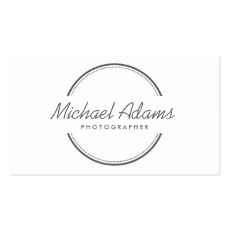 OPEN CIRCLE LOGO in GRAY Business Cards