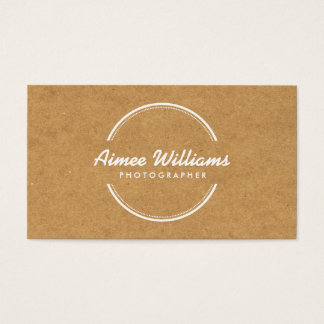 OPEN CIRCLE LOGO on TAN CARDBOARD Business Card