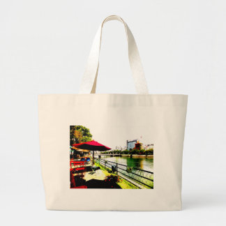 Open coffee of the Hiroshima Ichikawa paralleling* Large Tote Bag