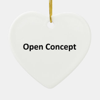 Open Concept Double-Sided Heart Ceramic Christmas Ornament