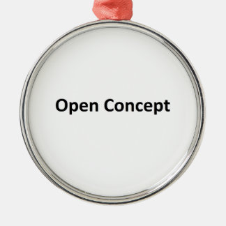 Open Concept Round Metal Christmas Ornament