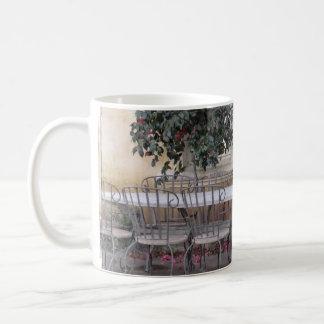 open courtyard coffee mug