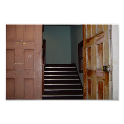 Open Door And Stairwell To Cameron Hall In Univers Poster
