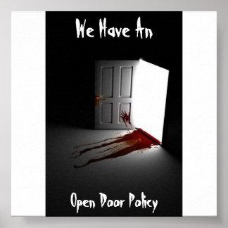 Open Door Policy Poster