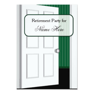 Open Door Retirement Party Card