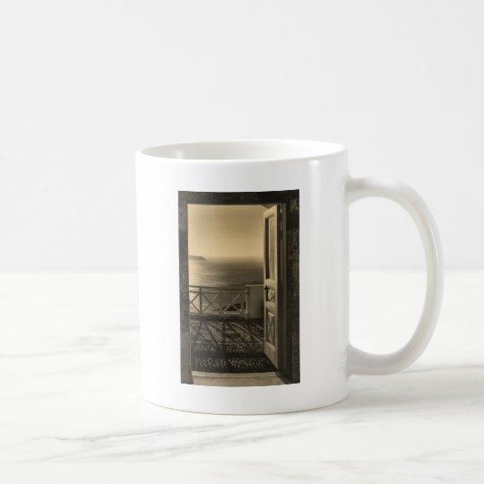 Open door-Retro Coffee Mug