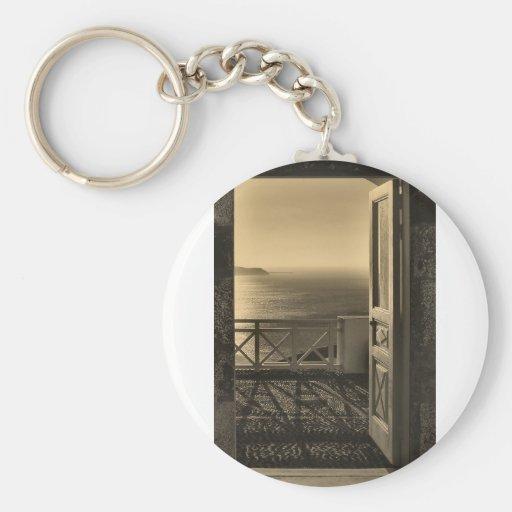 Open door-Retro Key Chains