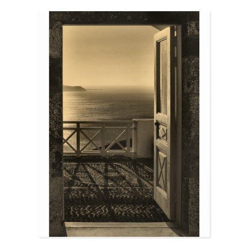 Open door-Retro Postcards