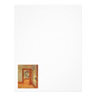 Open door sunny impressionist interior Anna Ancher Letterhead